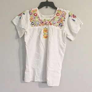 Vintage Hand Embroidered Blouse Size Medium